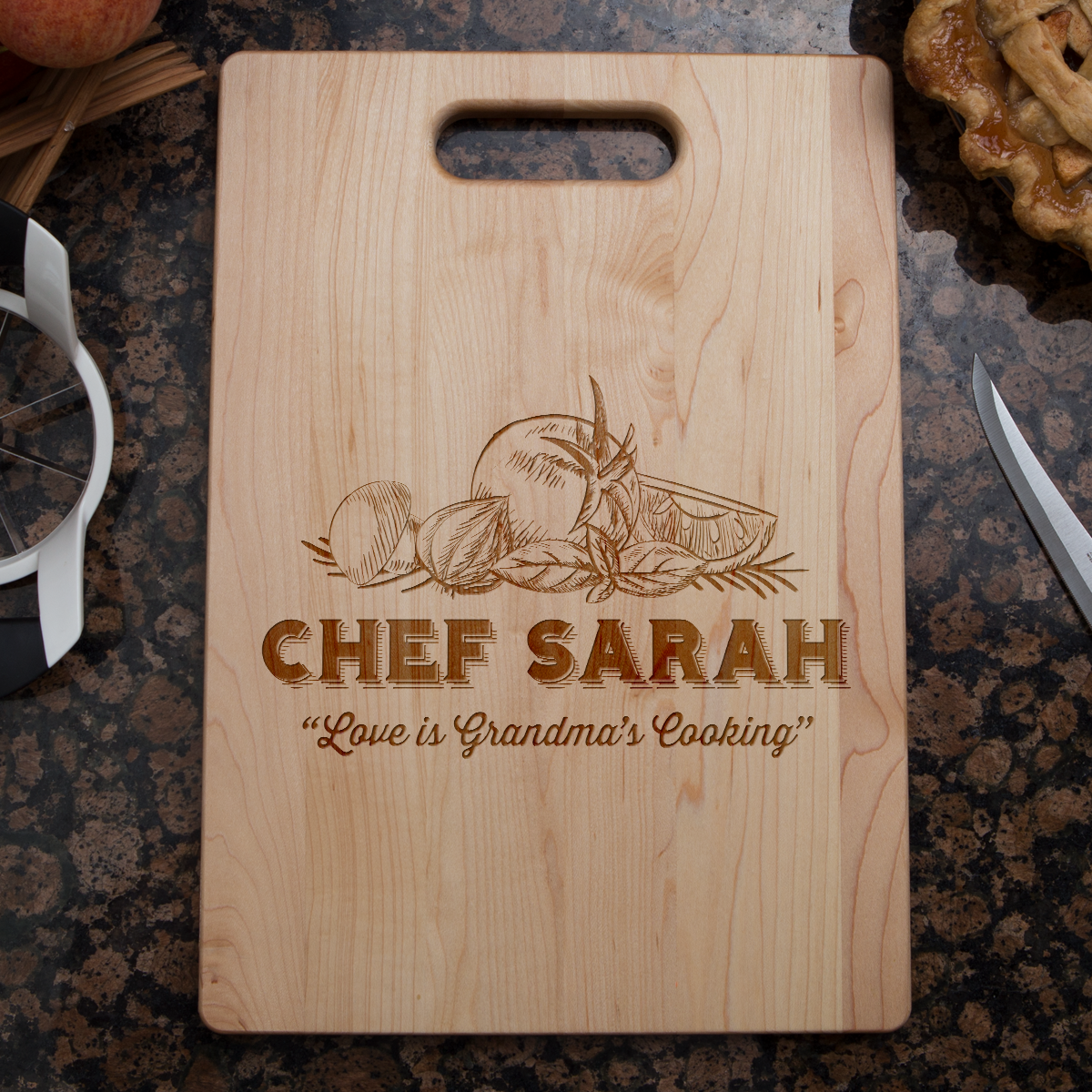 Love is Grandma's Kitchen Cutting Board-Shopeholic