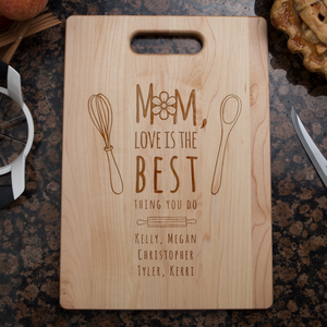 Mom Love Is The Best Cutting Board-Shopeholic