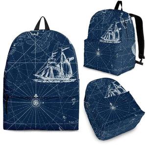 Nautical Blues Backpack-Shopeholic