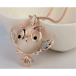 Opal Owl Fashion Necklace-Shopeholic