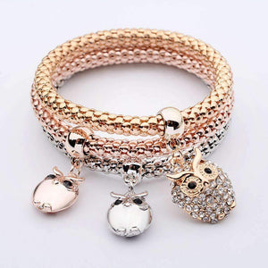 Shopeholic:Owl Pendants Multilayer Bracelets