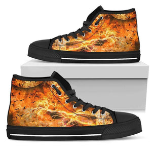 Raven's World - Men's High Top Canvas Shoes-Mens High Top - Black - Raven's World - Black-PP.2510610-Shopeholic