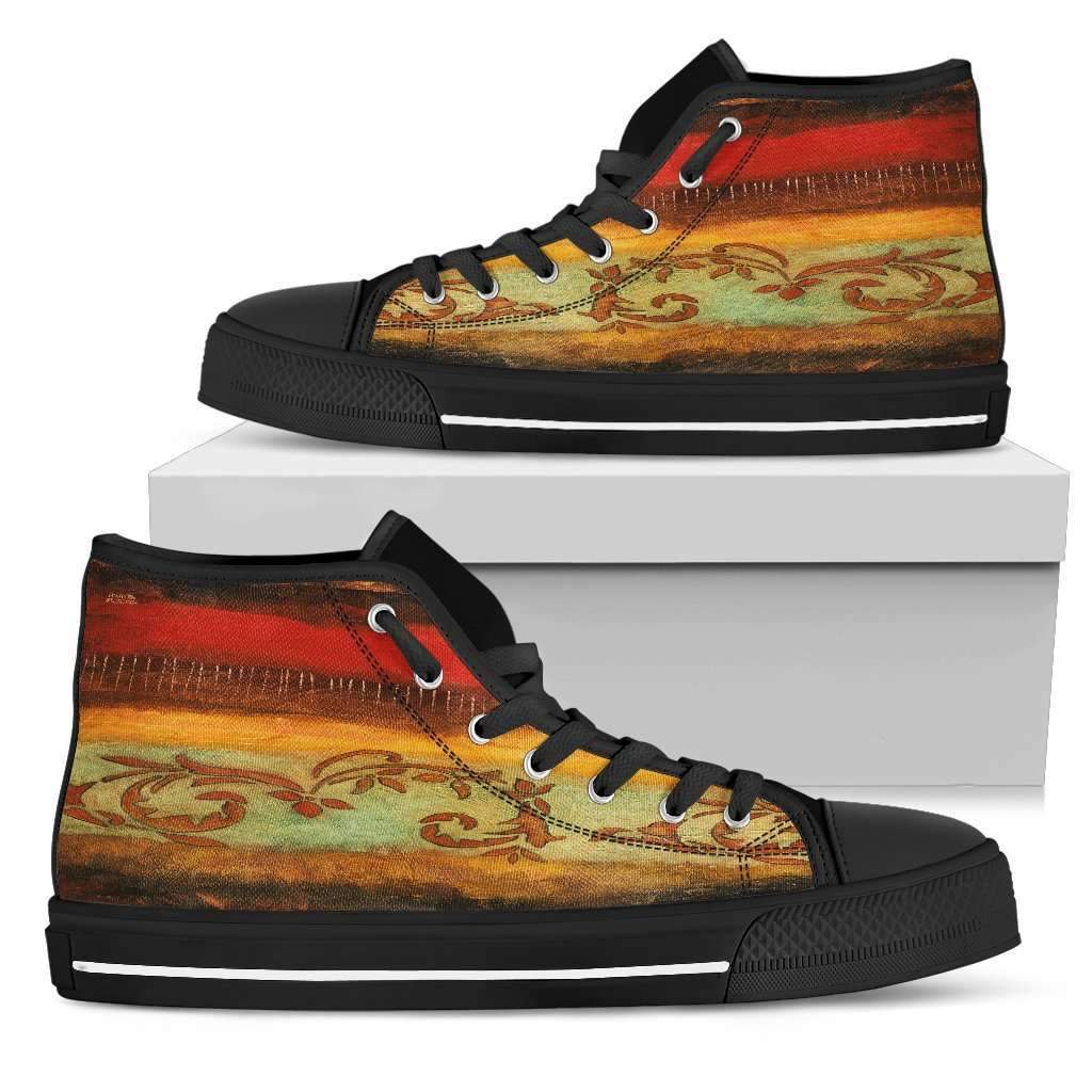 Rivera - Men's High Top Canvas Shoes-Mens High Top - Black - Rivera 1-PP.2549148-Shopeholic