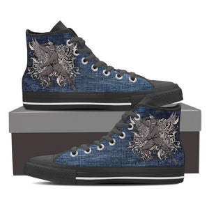 Samurai 1 - Men's High Top Canvas Shoes-Mens High Top - Black - Samurai 2-PP.2396489-Shopeholic