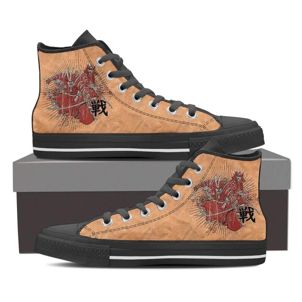 Shopeholic:Samurai - Men's High Top Canvas Shoes