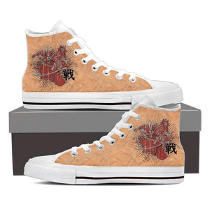 Samurai 2 - Men's High Top Canvas Shoes-Mens High Top - White - Samurai 2-PP.2399194-Shopeholic