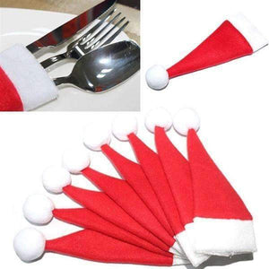 Shopeholic:Santa Hat Cutlery Holders - 10pcs