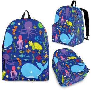 Shopeholic:Sea Creatures Backpack