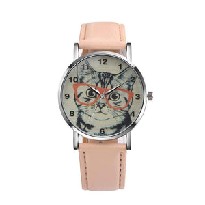 Smarty Cat Wrist Watch-Beige-LNP61221363BG-Shopeholic