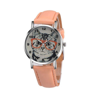 Smarty Cat Wrist Watch-Orange-LNP61221363OR-Shopeholic