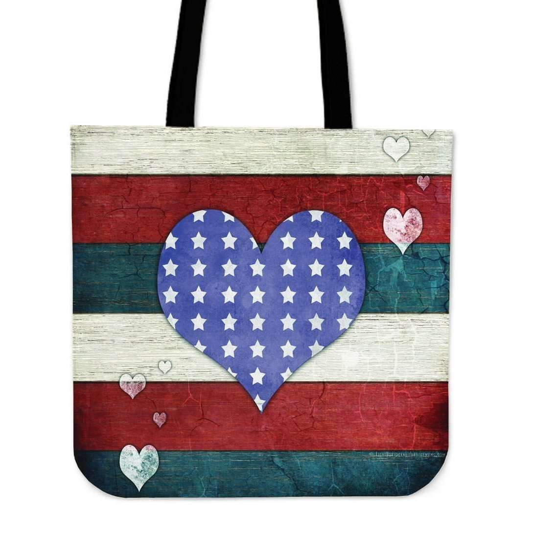 Shopeholic:Stars and Stripes - Tote Bags