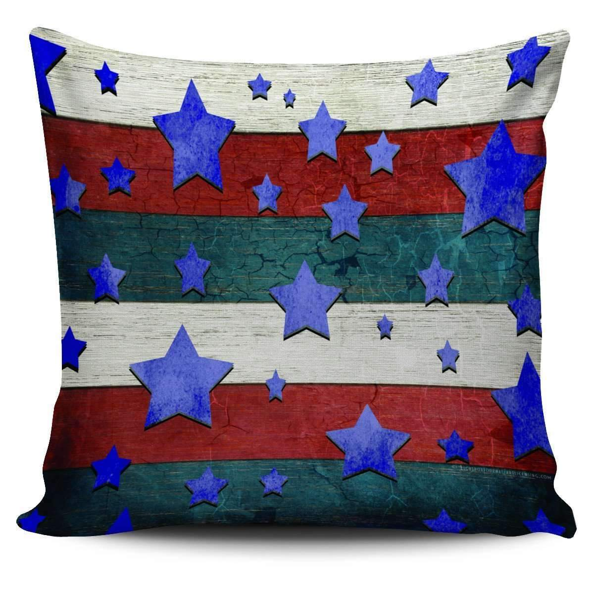 Stars & Stripes - Pillow Covers-Stars & Stripes - 1-PP.1398529-Shopeholic