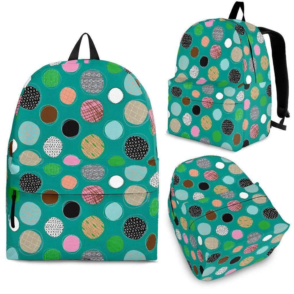 Textured Dots Backpack-Shopeholic