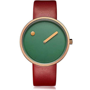 Unisex Minimalist Wrist Watch-Red Green-7000464-red-green-Shopeholic