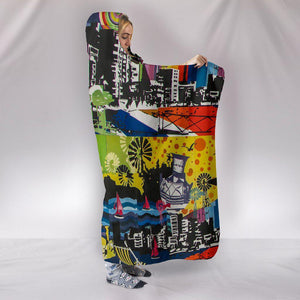 Urban Mosaic - Hooded Blanket-Shopeholic