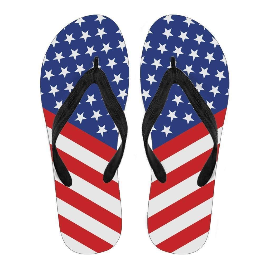 US Flag - Men and Women Flip Flops-Men's Flip Flops - Black - US Flag - Men-PP.1385447-Shopeholic