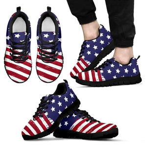 US Flag - Men, Women and Kids Sneakers-Men's Sneakers - Black - US Flag - Men-PP.1385078-Shopeholic