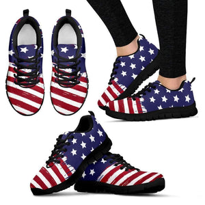 US Flag - Men, Women and Kids Sneakers-Women's Sneakers - Black - US Flag - Women-PP.1385087-Shopeholic