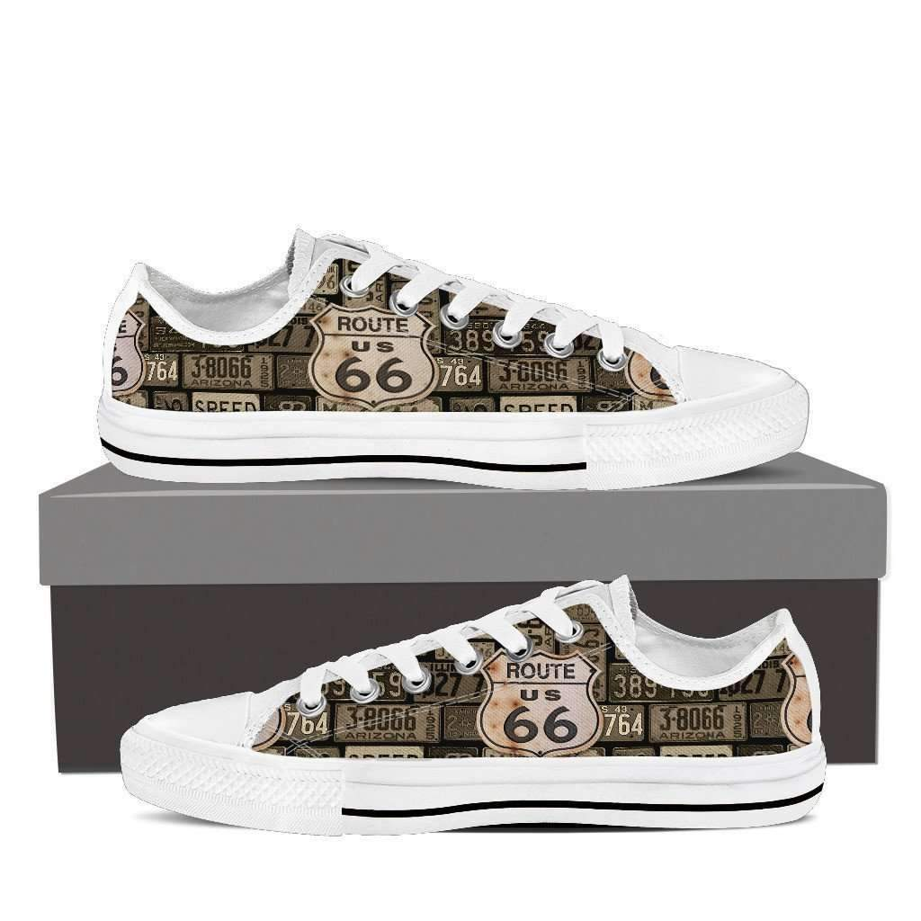 Shopeholic:US Route 66 - Plates - Men's Low Top Canvas Shoes
