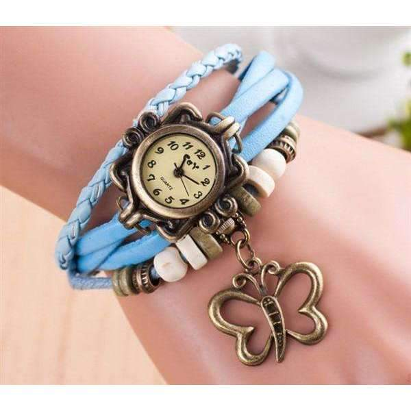 Vintage Leather Watch-Light Blue-Vintage Leather Watch-1-Shopeholic