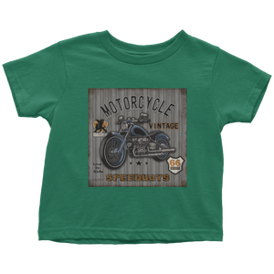Vintage Motorcycle 1 - Apparels-Toddler T-Shirt-3321-Shopeholic