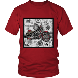 Vintage Motorcycle 2 - Apparels-District Unisex Shirt-DT6000-Shopeholic