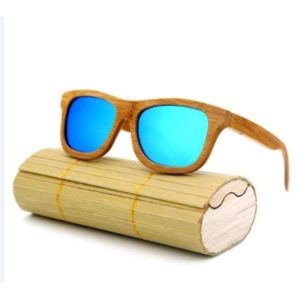 Wooden Sunglasses-Blue-Wooden Sunglasses-1-Shopeholic