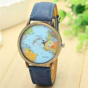 World Map Fashion Watch-Blue-World Map Fashion Watch-2-Shopeholic