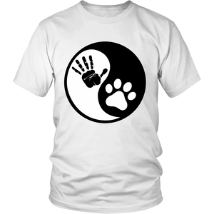 Yin Yang (Hand & Paw Prints) Apparels-District Unisex Shirt-DT6000-Shopeholic