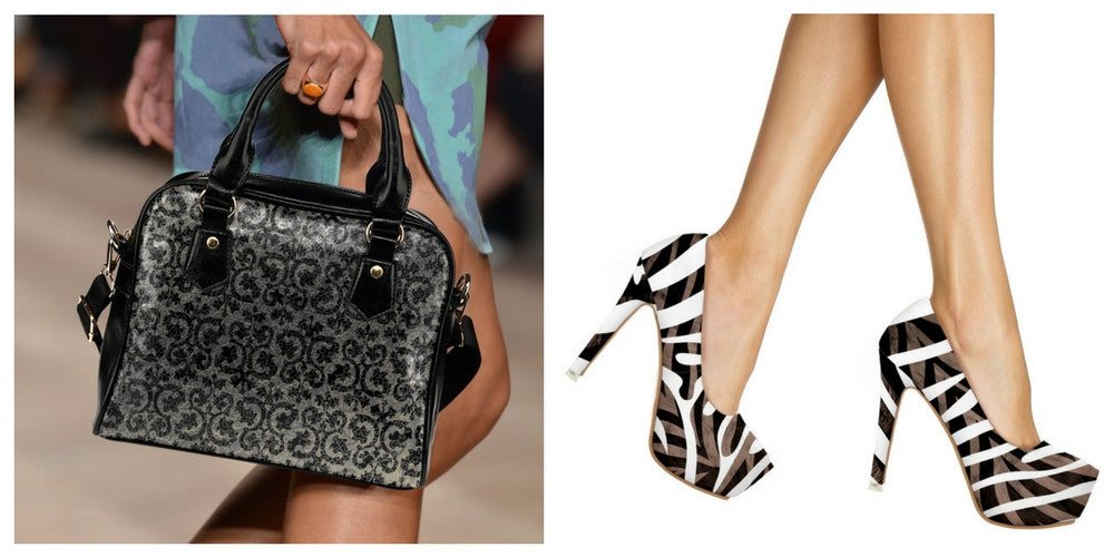 WOMEN'S BAG AND HIGH HEELS