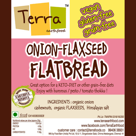 Terra-Onion Flax Flatbread