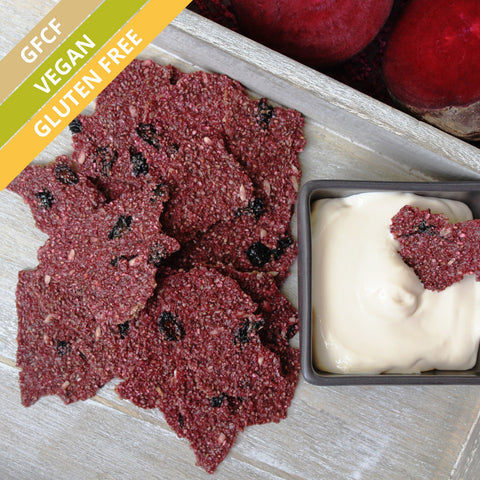 Terra-Beetroot Chia Crackles