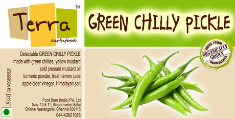 Terra- Green Chilly Pickle