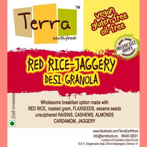 Terra-Red Rice Jaggery Granola