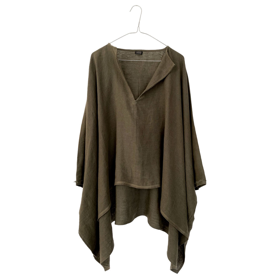 Linen Up & Down Wide Tunic