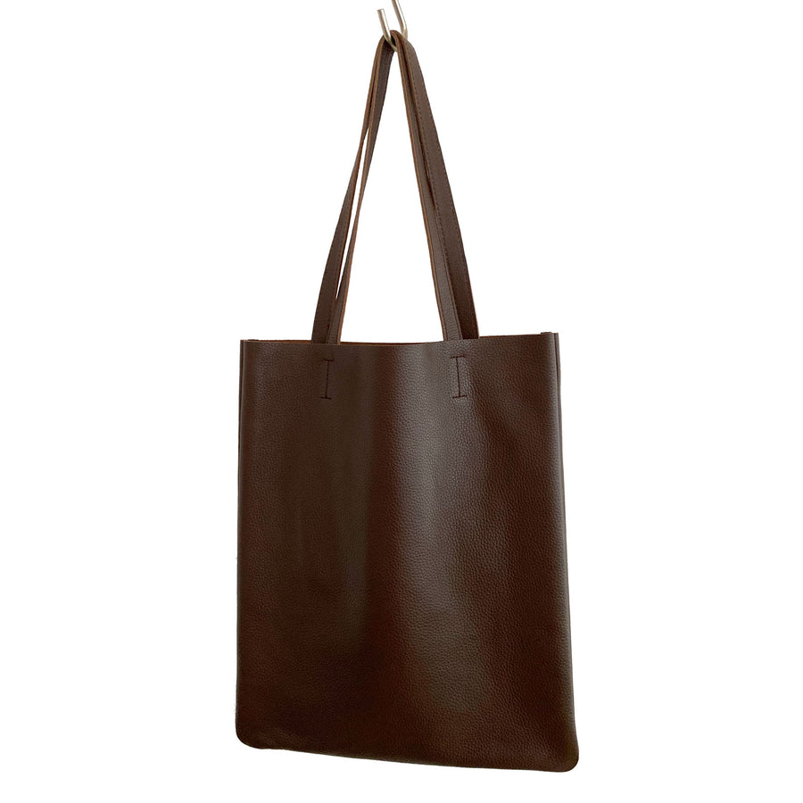 Leather Flat Tote