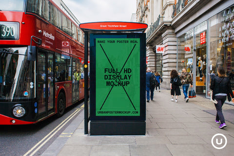 Bus Station Digital Poster Mockup