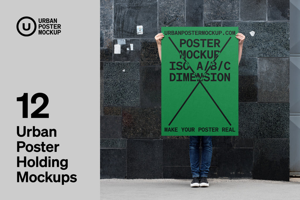 Urban Poster Holding Mockup