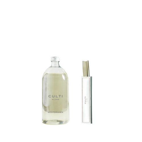 Culti 250ml Reed & 1000ml Diffuser Refill Set