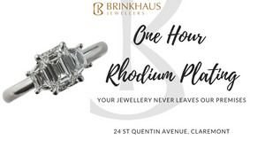 One Hour Rhodium Plating Perth | Perth Rhodium Plating | Brinkhaus Jewellers Claremont