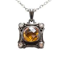 Citrine and white sapphire necklace perth | Perth Citrine | Brinkhaus Jewellers Claremont