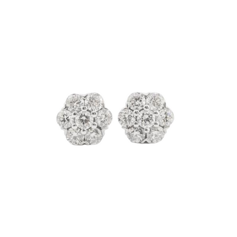 Diamond Flower Studs Perth | Perth Diamond Earrings | Brinkhaus Jewellers