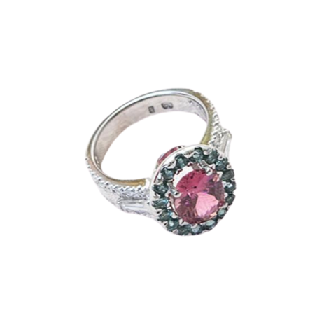 Pink & Paraiba Tourmaline Diamond Ring Perth | Brinkhaus Jewellers Perth