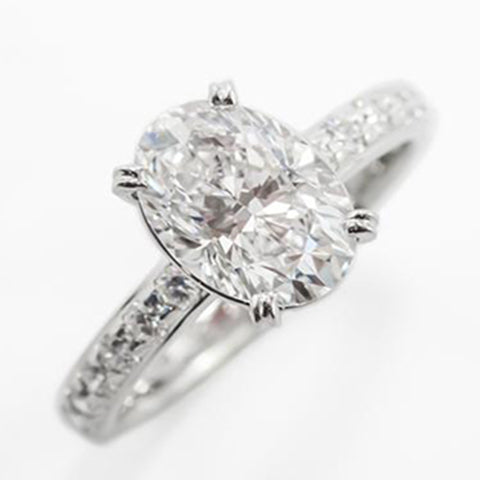 solitaire oval cut diamond engagement ring
