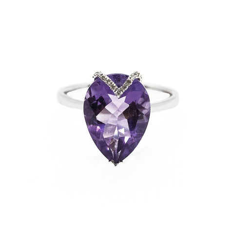 Pear Shaped Amethyst Ring Perth | Amethyst Rings Perth | Brinkhaus Jewellers Claremont