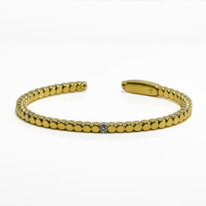 Diamond Cuff in 18ct Yellow Gold