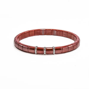 red ceramic diamond bracelet