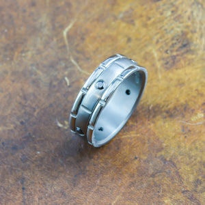 Black Diamond Men's Ring in Titanium