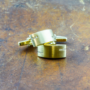 Diamond Cufflinks in 18ct Yellow Gold