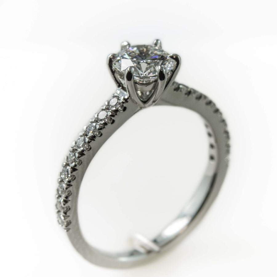 Diamond Solitaire Engagement Ring in Platinum Perth